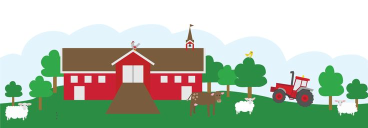 Farm Illustration for client Nyweb.no to be used by norwegian schools and kindergartens