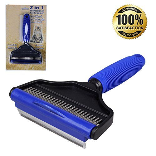 Dog Shedding Tools - HeHa Pet 2 in 1 Deshedding Tool  Dog Brush for Shedding and Undercoat Rake for Dogs with Long or Short Hair Professional Pets Groomer Perfect for Dogs Cats Horses Blue Large -- Find out more about the great product at the image link. (This is an Amazon affiliate link)