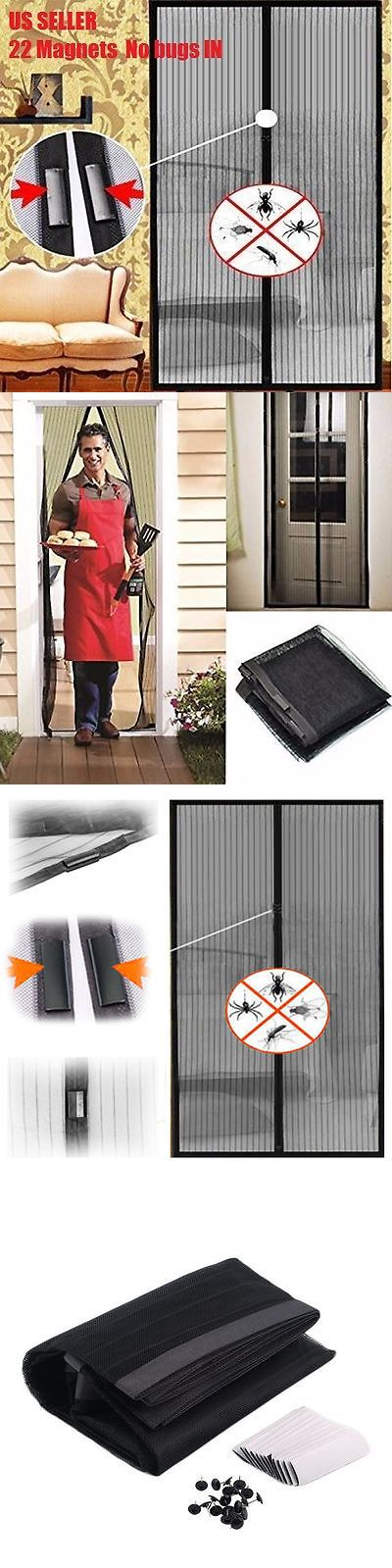 Other Window Accessories 180114: 22 Magnets Magic Mesh Screen Net Door Mesh Anti Mosquito Bug Curtain Nobox Usa -> BUY IT NOW ONLY: $99.99 on eBay!