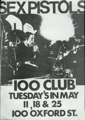 The Sex Pistols @ the 100 Club, London, 1976