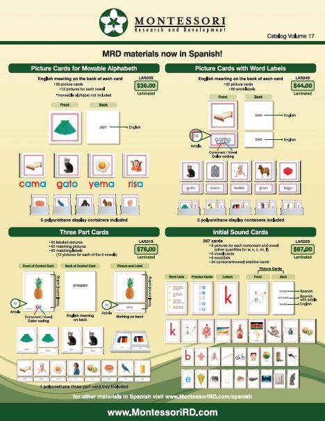 Teacher Manuals | Montessori Research and Development - Montessori materials, teacher manuals and books