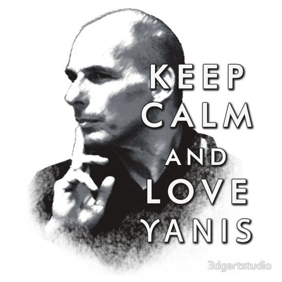 """Keep Calm and Love Yanis"" slogan printed on T-shirt"