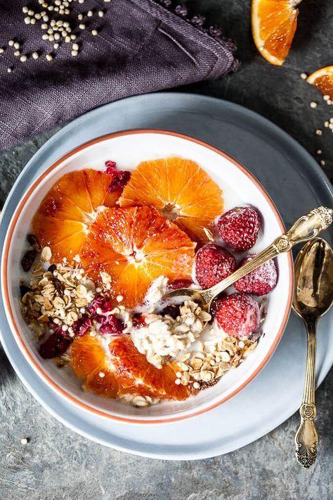 vegan blood orange overnight oats