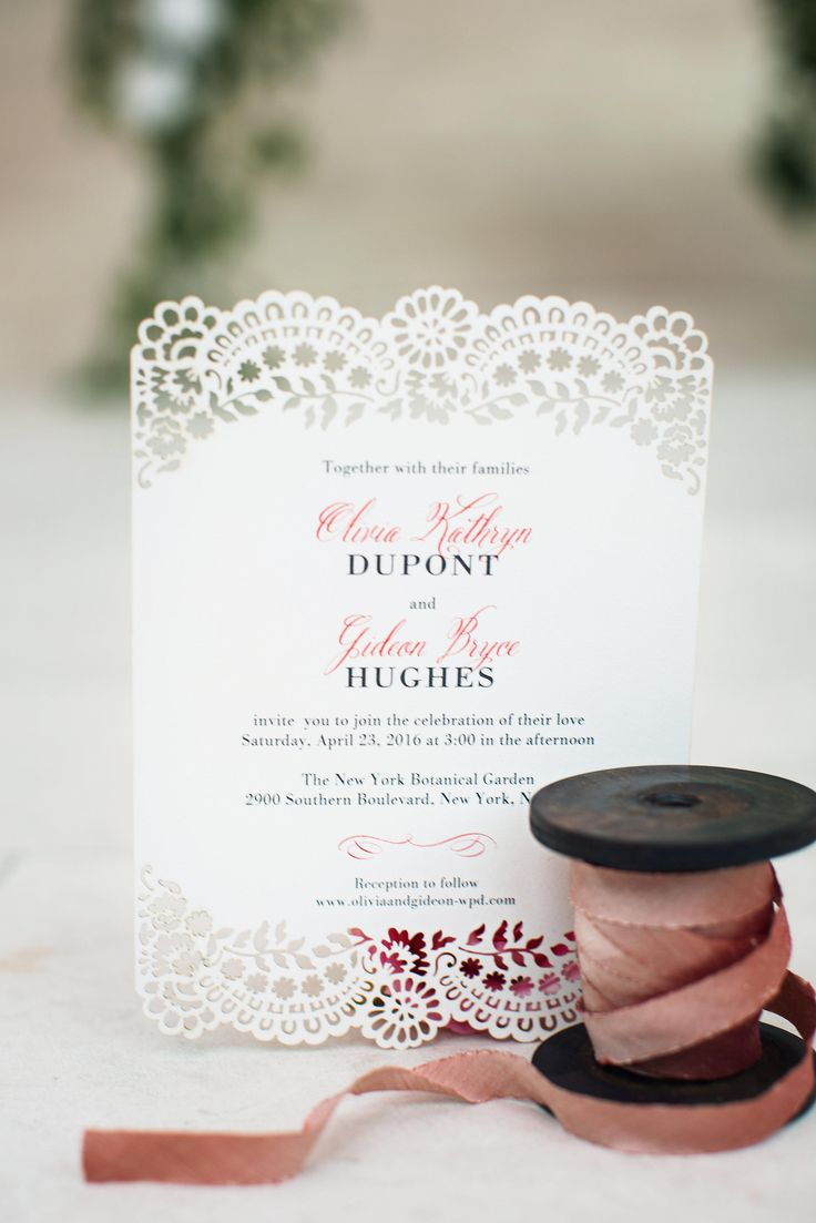 Gorgeous Lace Lasercut Wedding Invitations From your