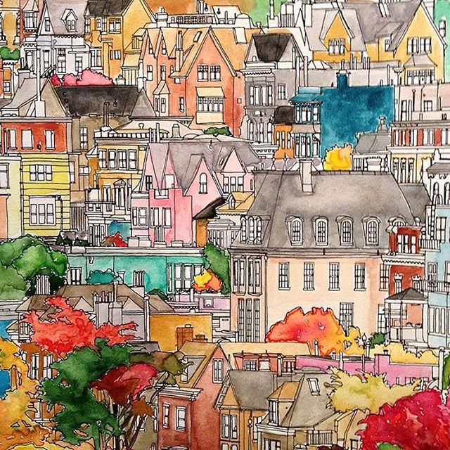 More Fantastic Cities Inspiration Find This Pin And On Coloring Book Completed