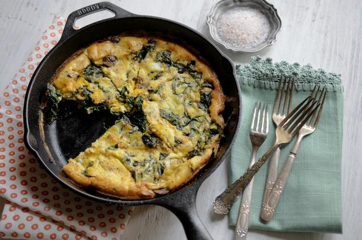 Kale and Mushroom Frittata | Kale, Mushrooms and Large Egg