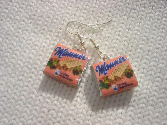 manner wafers manner schnitten  earrings by andreachalari on Etsy, $15.00