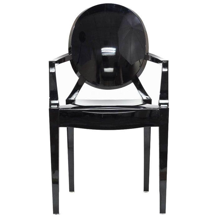 Found it at www.dcgstores.com - ♥ ♥ Casper Ghost Armchair in Opaque Black ♥ ♥