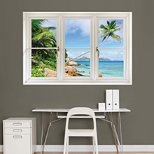 Tropical Beach, Seychelles: Instant Window - Instant Windows - Home Decor Graphics