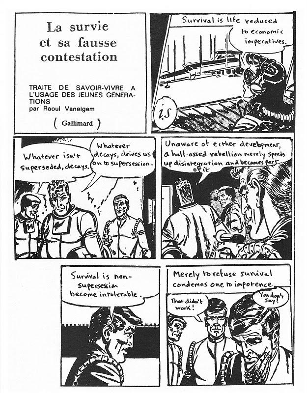 Raoul Vaneigem, Comic Strip -- The Revolution Of Everyday Life