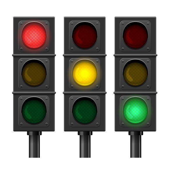 Vector Traffic Lights In 2020 Traffic Light Stop Light Traffic