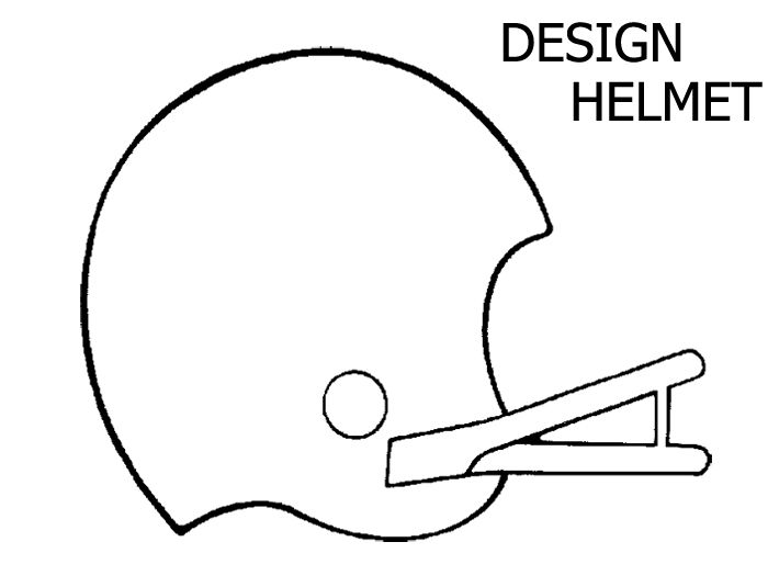 design a football helmet coloring page for kids