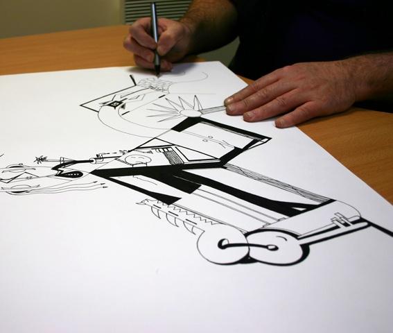 Abstract Artwork | By Jason Clarke | Using Pentel EnerGel Plus pen