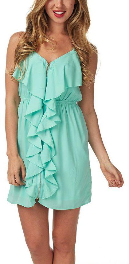 Mint Ruffle Dress