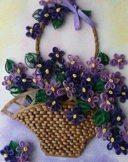 Arta si frumusete - cos cu flori- quillig