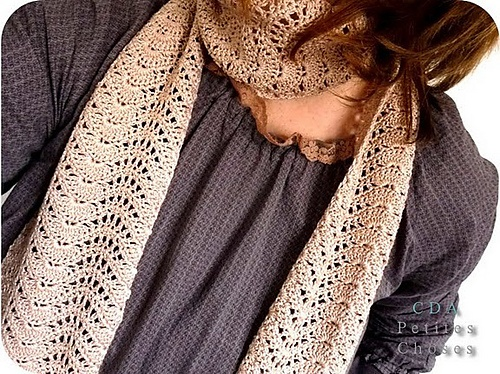 Feather And Fan Knitting Pattern Scarf : Feather and Fan Scarf pattern