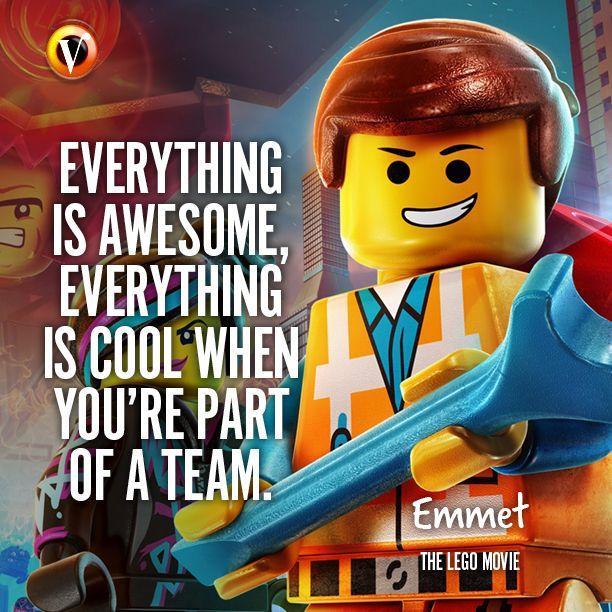 "Emmet (Chris Pratt) in The Lego Movie: ""Everything is ..."