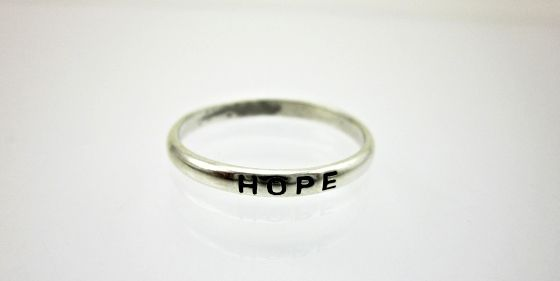 Sterling silver Ring - Hope . Find it at www.giftedmemoriesjewellery.com.au
