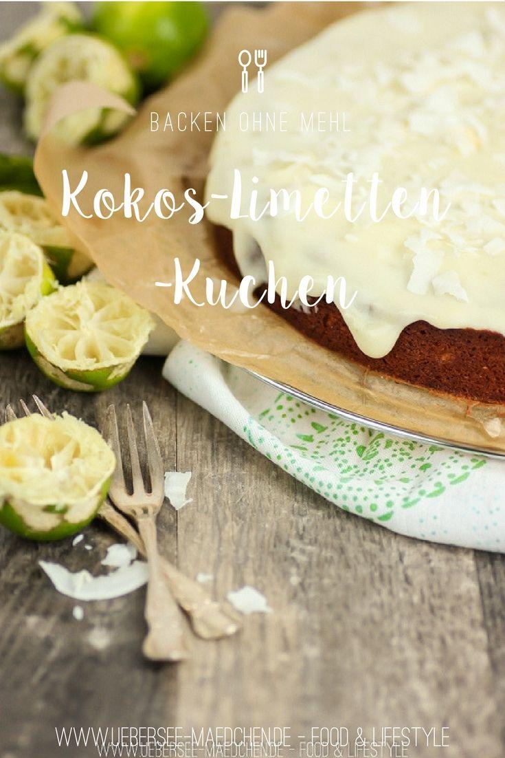 Rezept für Kokos-Limetten-Kuchen ohne Mehl, der an Urlaub auf Key West erinnert | Recipe for Coconut-Lime-Cake baking without flour and remembering vacation at Key West