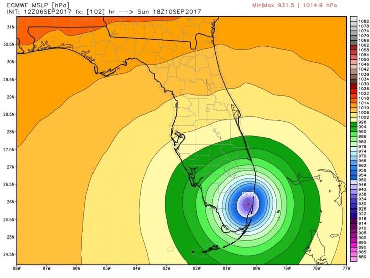 Heres what the worlds most accurate weather model predicts for Irma