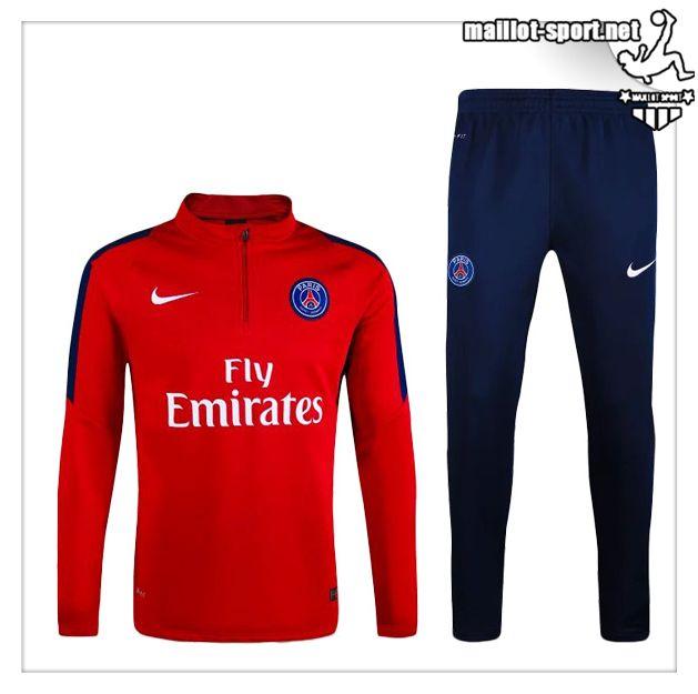 Maillots-Sport: Site Pour Vrai Nouveau Survetement Psg Bleu Rouge 2016 2017