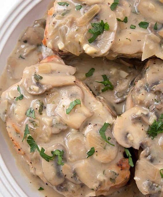 Filet mignon de porc sauce champignons au thermomix