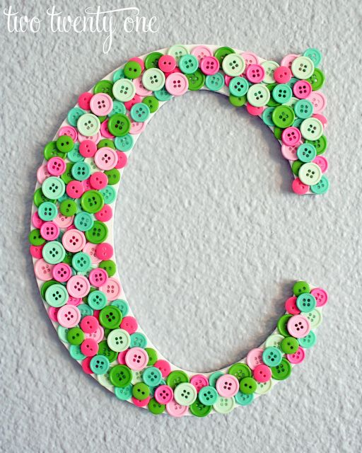 94 best letters numbers images on pinterest creativity for Decorative buttons for crafts