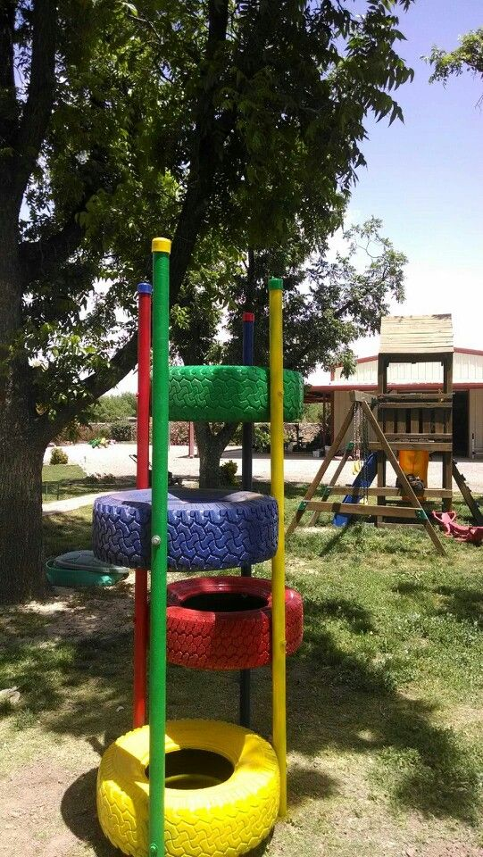 104 best images about re using old tires for playgrounds for Recycled yard decorations