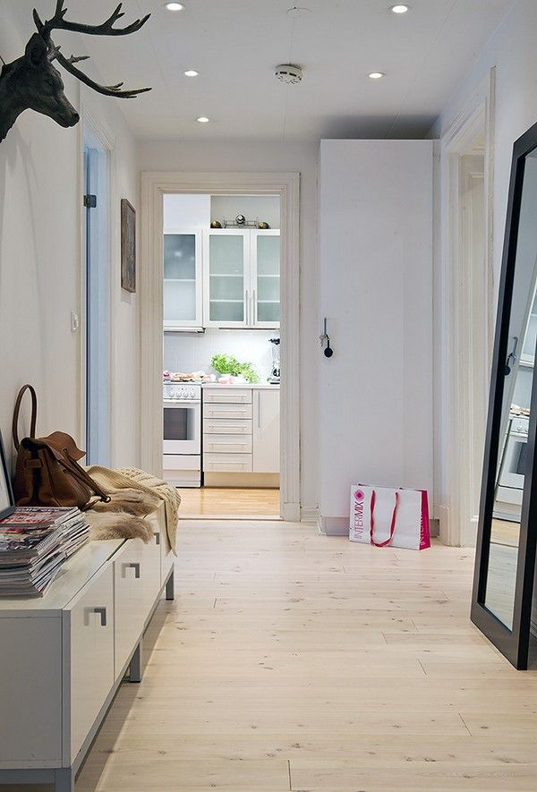 low, long, storage cabinet for entry way.