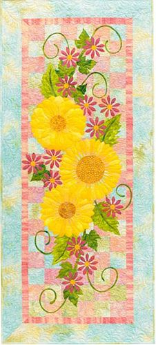 Flower Show Quilts - would love this done in a runner for my dining table with the background colors tweaked a bit to match my decor & blue willow.