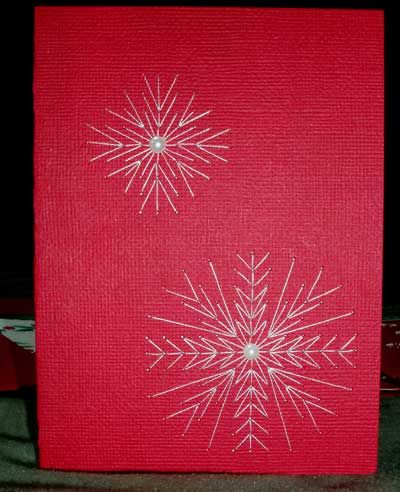 Hand Embroidery on Paper: Christmas Cards Assembled and Decorated – Needle'nThread.com