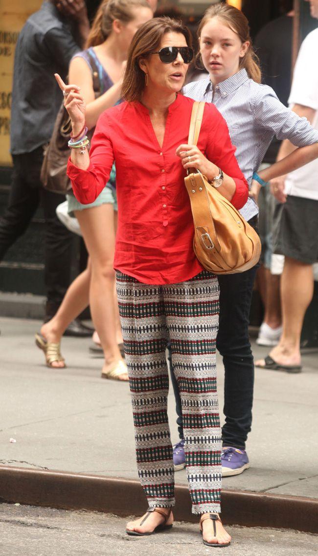 La princesa Carolina y su hija Alejandra, dos turistas en Nueva York -
