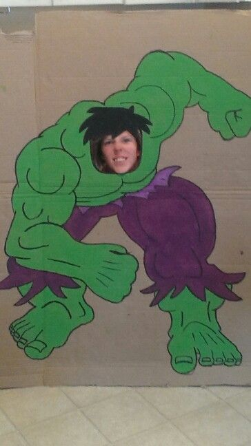 Incredible hulk cardboard for little guy's birthday party!