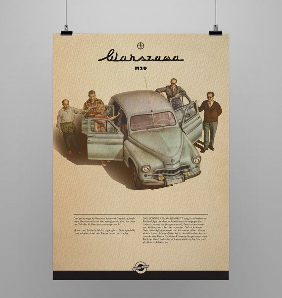Warsawa M 20 Text in german language  Listign is for print only. Every print has a 5 cm white border for easy framing.