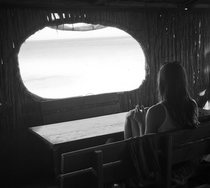 looking towards the sea - at a beach bar in Vama Veche