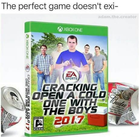Cracking open a cold one with the boys