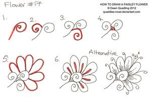 How to draw Paisley Flower 20 by *Quaddles-Roost on deviantART