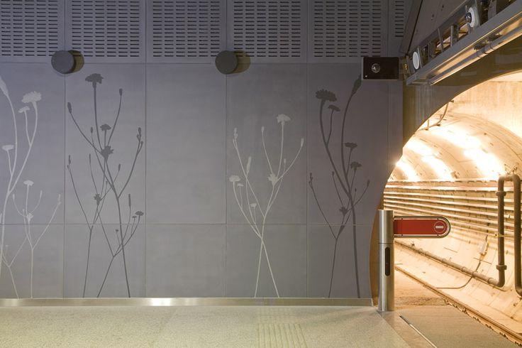 """M4 subway station, Budapest """"ConcreteFlowers"""""""