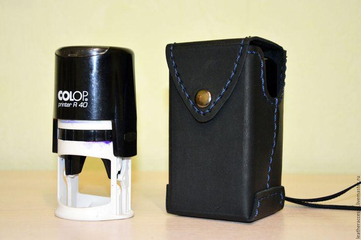 Купить Кобура для печати (штампа) - черный, печать, штамп, штампы, чехол, кобура, для бизнеса, в подарок