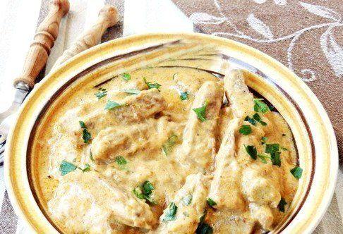 Мясо тушенное со сметаной.Рецепт с пошаговыми фото. | Empanada.RU
