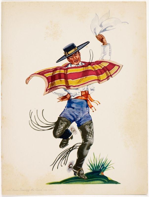 """Chile: """"Huaso bailando la cueca"""""""