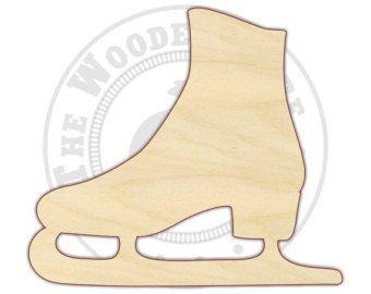 Ice Skate MDF Cutout Variety of Sizes USA Made Winter Decor Sports Decor