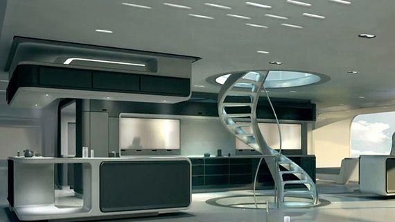 future home with sci fi