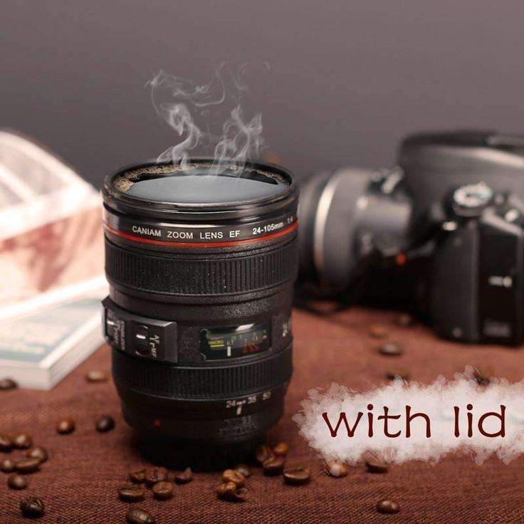 New Caniam SLR Camera Lens 24-105mm 1:1 Scale Plastic Coffee Tea MUG 400ML Creative Cups And Mugs With Lid M102 MUG-09 Drinkware.Free shipping worldwide.