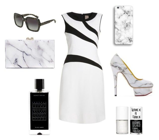 """Marble"" by thestrawberrytales on Polyvore featuring Charlotte Olympia, Dolce&Gabbana, Agonist and Uslu Airlines"