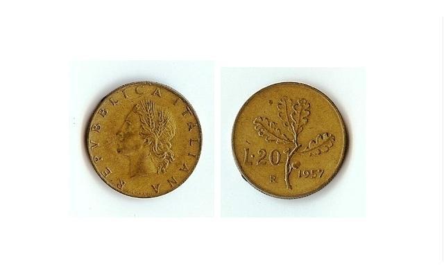 20 lire 1957
