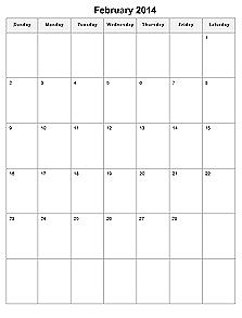 Calendar Lab-  Customizable monthly calendars.  Portrait calendars only.