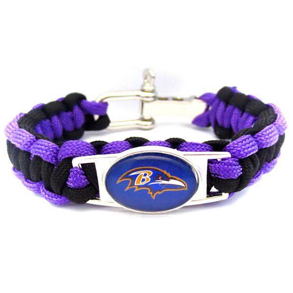 NFL Baltimore Ravens Football Team Paracord Bracelet