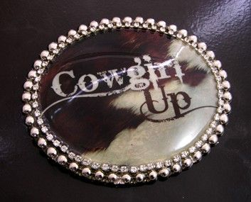 Cowgirl Up Belt Buckle and Belt by HHHdesigns on Etsy, $29.00