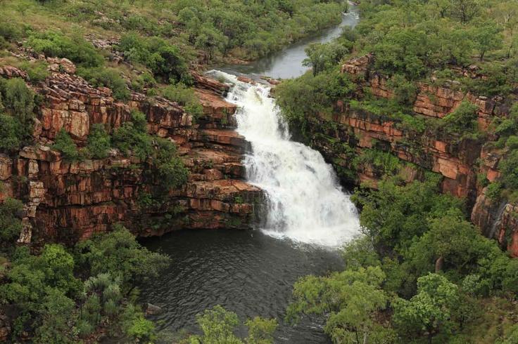 Stunning waterfalls in the wet season